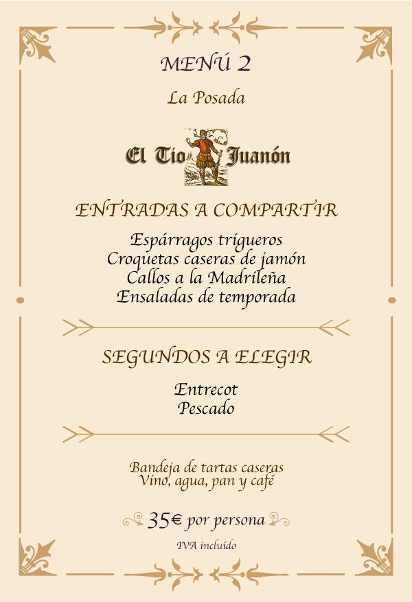 Menú Restaurante Navalcarnero Madrid